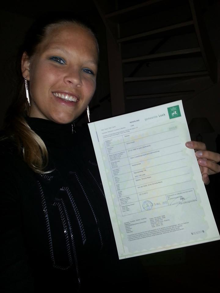 Anniek weer ingeschreven in Nederland!