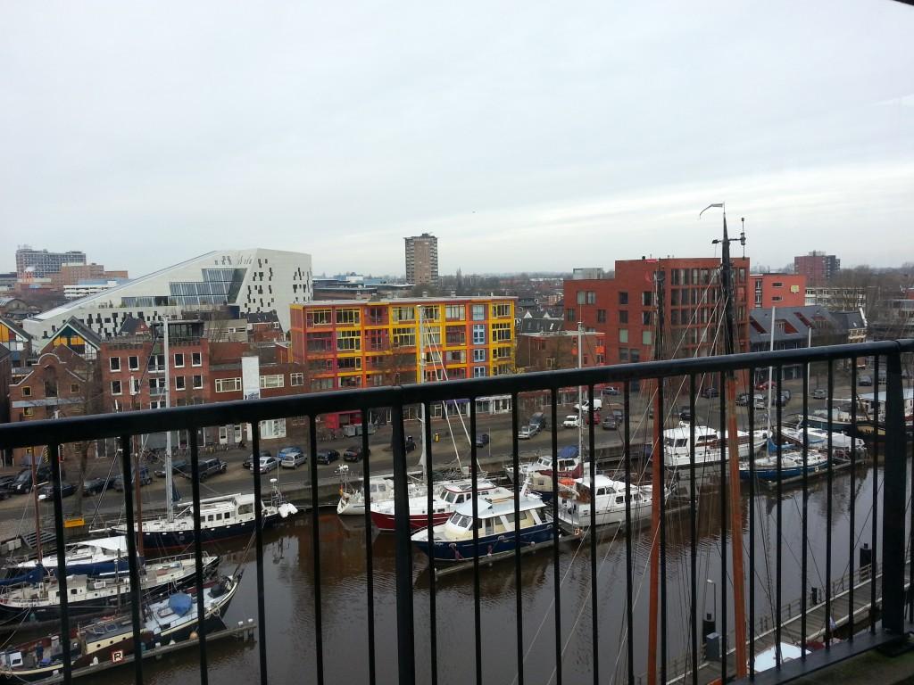 Uitzicht op de Oosterhaven